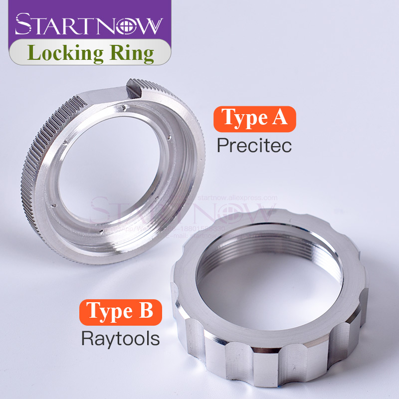 Startnow Ceramic Lock Ring Nut Fiber Laser Head Parts Laser Nozzle Connector Fasten Ring Fiber Laser For Precitec Raytools