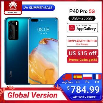 Global Version Huawei P40 Pro 5G 8GB 256GB Kirin 990 Smartphone 50MP Quad Cameras 6.58'' 90Hz Screen 40W SuperCharge