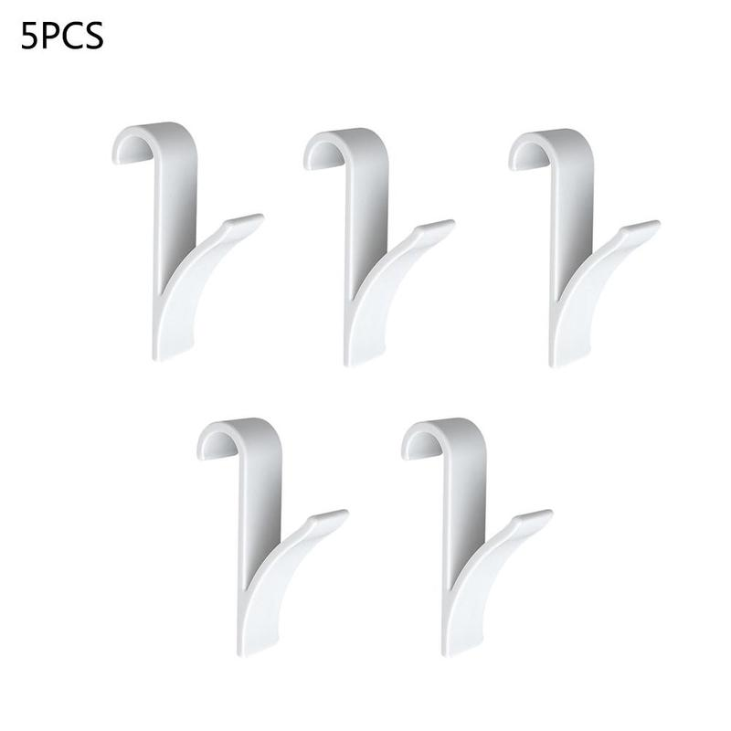 5pcs High Quality Plastic Bathroom Hook Radiator Hook White/Transparent Multifunction Towel Unbrella Clothes Rack Decor