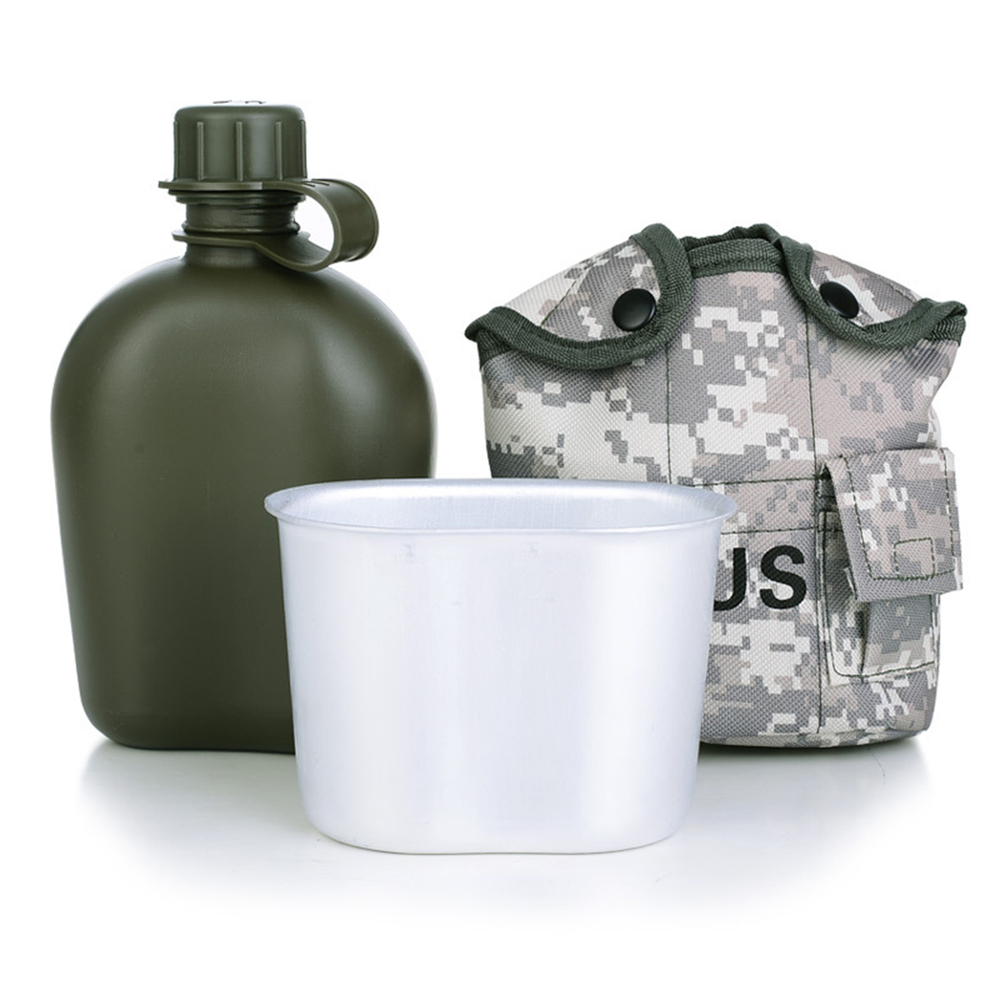 3 pcs Lunch Box Camouflage Insulation Kettle Outdoor Mountaineering Camping Hiking Bottle Tactical Canteen Water Kettle Jug|Sports Bottles|Sports & Entertainment - title=