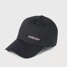 New Ambush 2021 Letter Embroidery Peaked Cap Men Women High Quality Curved Brim Hat Adjustable Trucker Cap