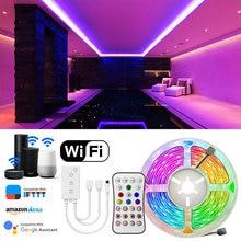 SMD 5050 Led bande lumière rvb Smart Wifi APP contrôle étanche 5m 10m Led ruban Flexible Led lumières pour cuisine noël