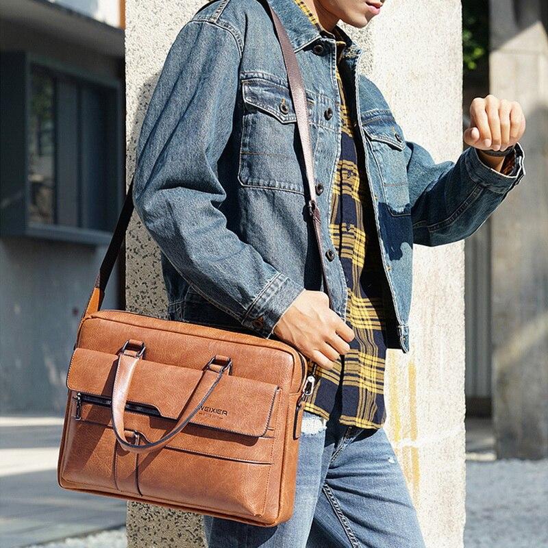 Maletín para hombres joditty bolso de alta calidad de negocios de famosa marca de cuero bandolera bolsos de oficina portátil de 13,3 pulgadas