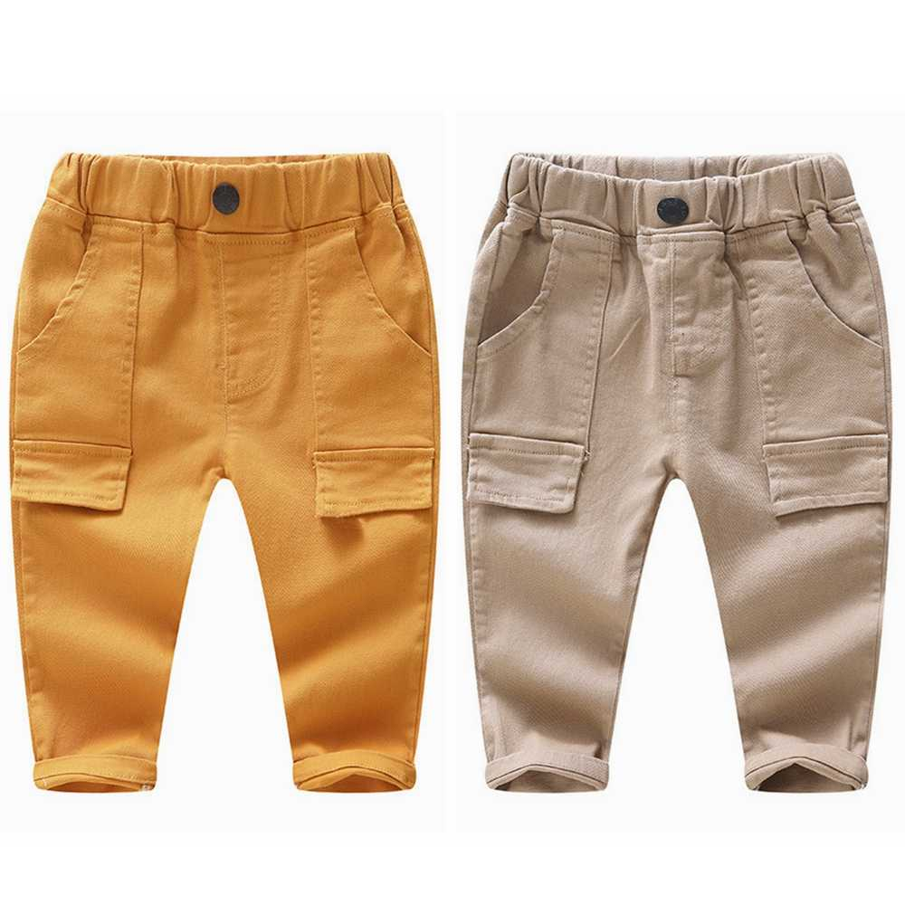 Chumhey 1-4T baby Corduroy trousers boys girls pants spring autumn bebe clothing babe clothes casual plaid loose trousers