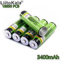 liitokala 2018 for ncr18650b New Original 18650 34b 3400mAh battery Li ion Rechargeable 3400 battery PCB Protected