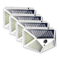 4/2/1pcs 100 LED Solar Light Outdoor Solar Lamp Powered Sunlight Waterproof PIR Motion Sensor Street Light for Garden Decoration