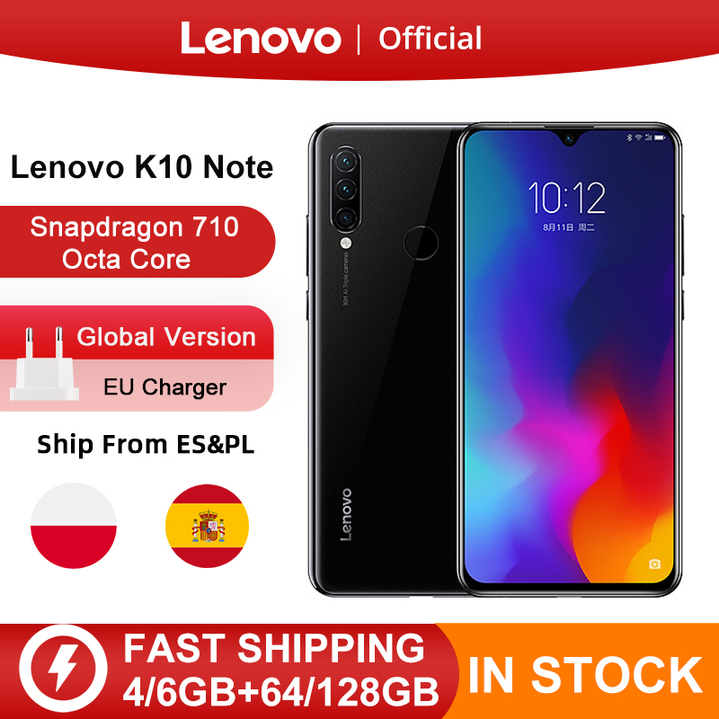 Global Version Lenovo K10 Note(Z6 Lite) 64GB 128GB Snapdragon 710 Octa Core Triple Back Cams 6.3 Inch 19.5:9 Water Drop 4050mAh