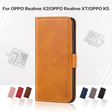 Flip Cover For OPPO Realme X2 Business Case Leather Luxury With Magnet Wallet Case For OPPO Realme XT OPPO K5 Phone Cover cheap VBNM Stand Card Holder Silicone Photo Frame Case Wallet Cover 6 4 inches Matte Plain Waterproof Dirt-resistant Anti-knock