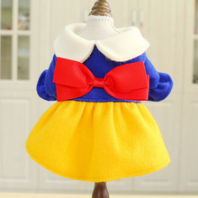 Pet Dog Cat Simple Doll Collar Red Yellow Blue Three-Color Skirt Teddy Bear Small And Medium-Sized Clothes Factory Direct Sales цена и фото