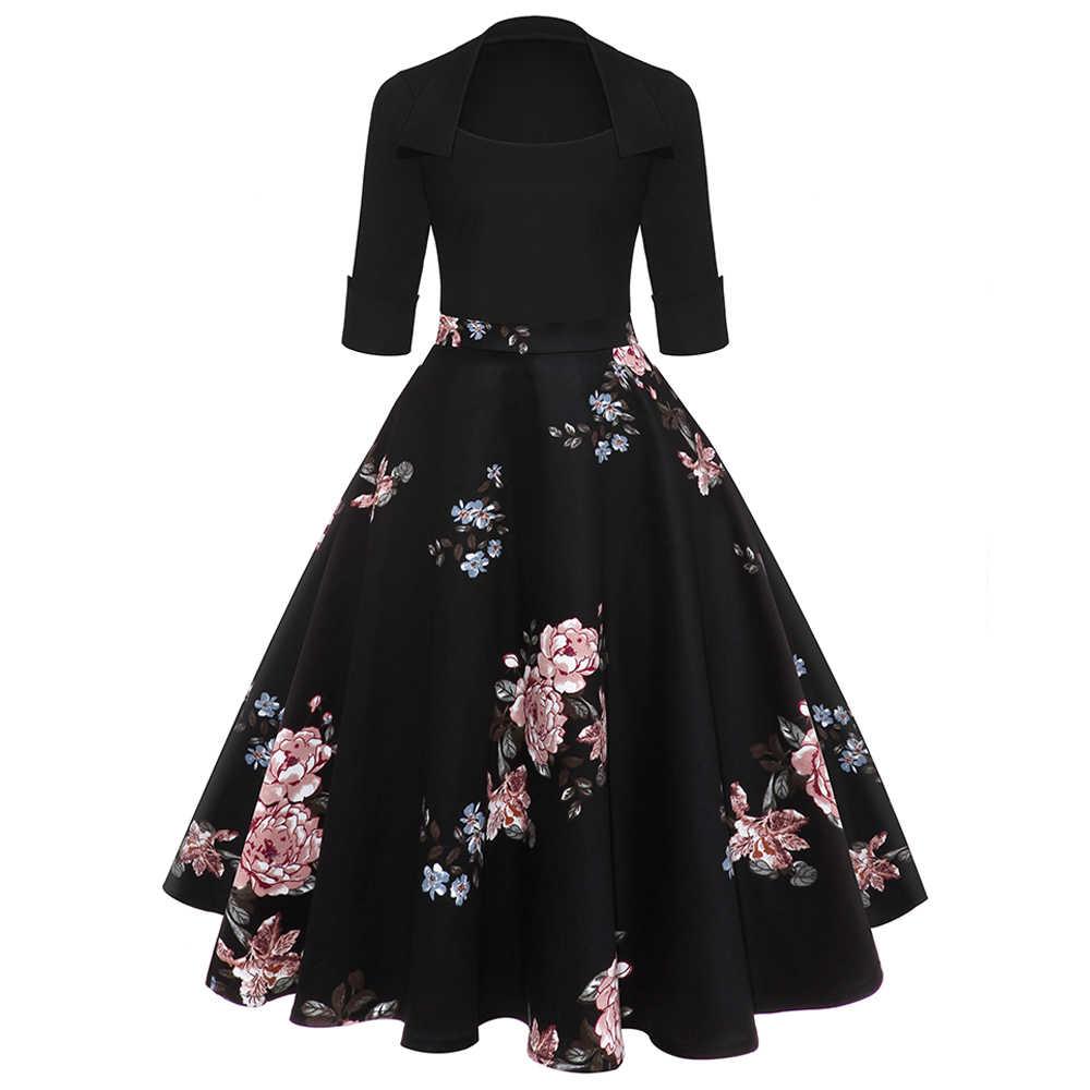 Платье С Принтом Цвет Черный