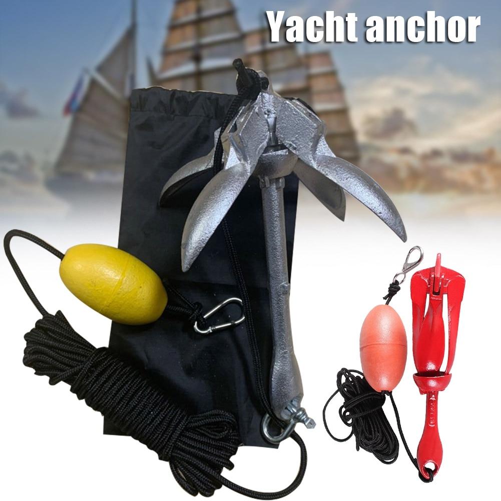 Boat Folding Grapnel Anchor Steel Durable Docking Hardware For Boat Marine Yacht Nj88