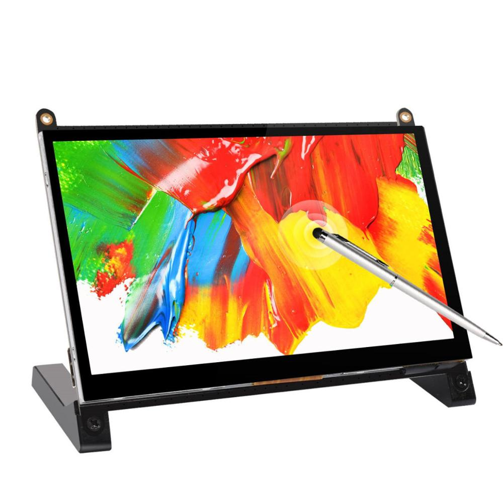 7 pouces écran tactile portable moniteur LCD affichage HDMI Interface pour framboise Pi 4B 3B + 3B 2B + BB noir banane Pi Windows 10 8 7
