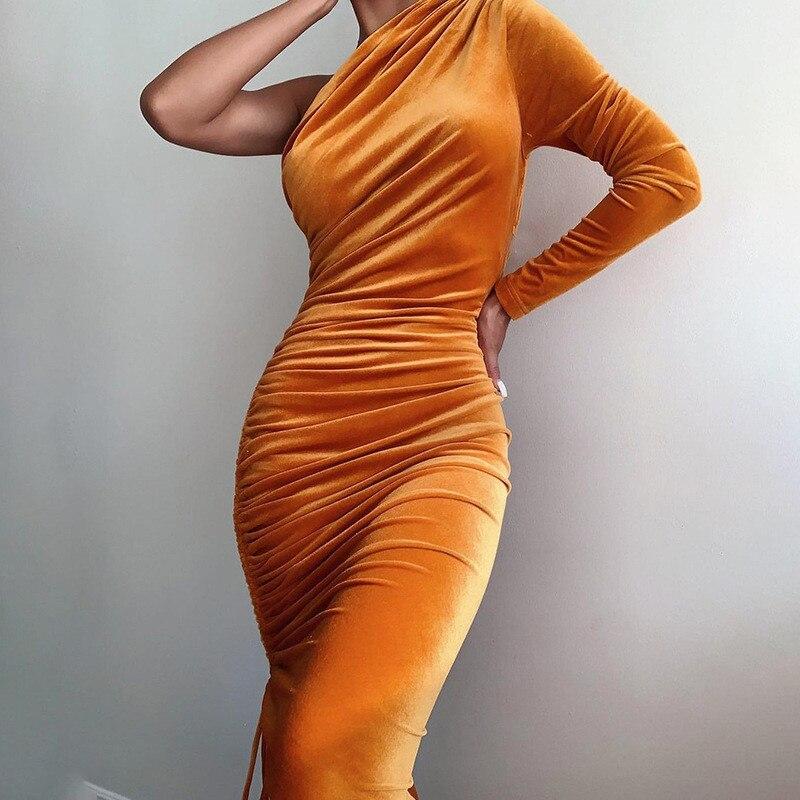 one shoulder midi dress06