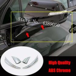 Para chevrolet blazer 2019 2020 abs chrome carro espelho retrovisor decoração tira capa guarnição adesivo estilo do carro acessórios 4pcs