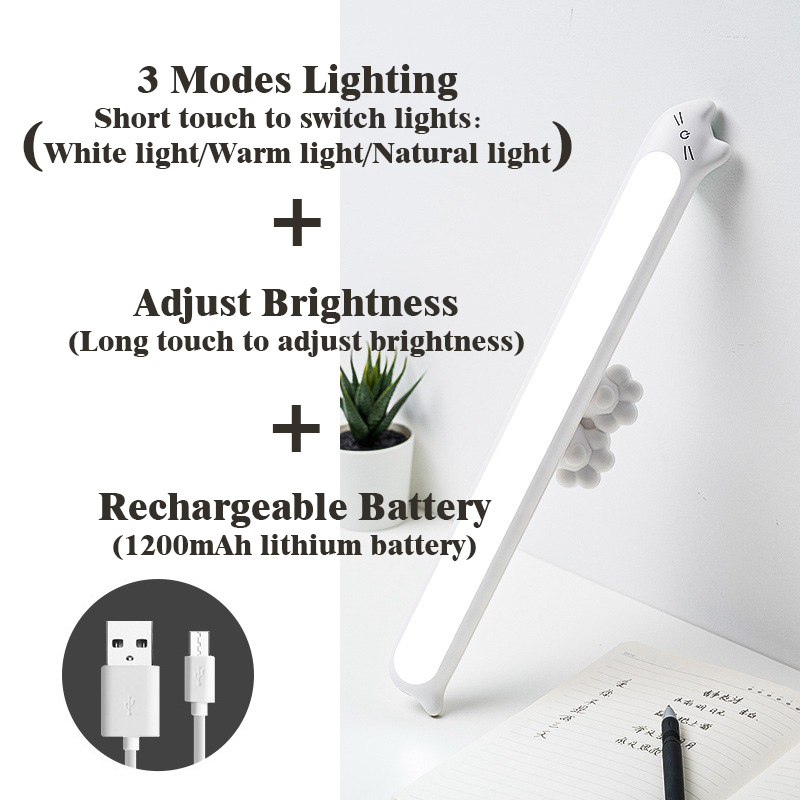 2020 New Dropship Hanging Magnetic Night Lamp 16PCS LED Lamp Chargeable and Eye-protect Lamp Stepless Dimming Night lights