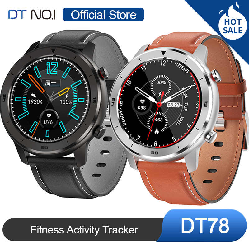 DT Nr. 1 DT78 Runde Touch Control Smart Watch 14 Multi Watch Gesichter Smartwatch Armband Fitness Activity Tracker Männer Frauen Wearable Devices Band Pulsmesser Informationen Push Call Reminder