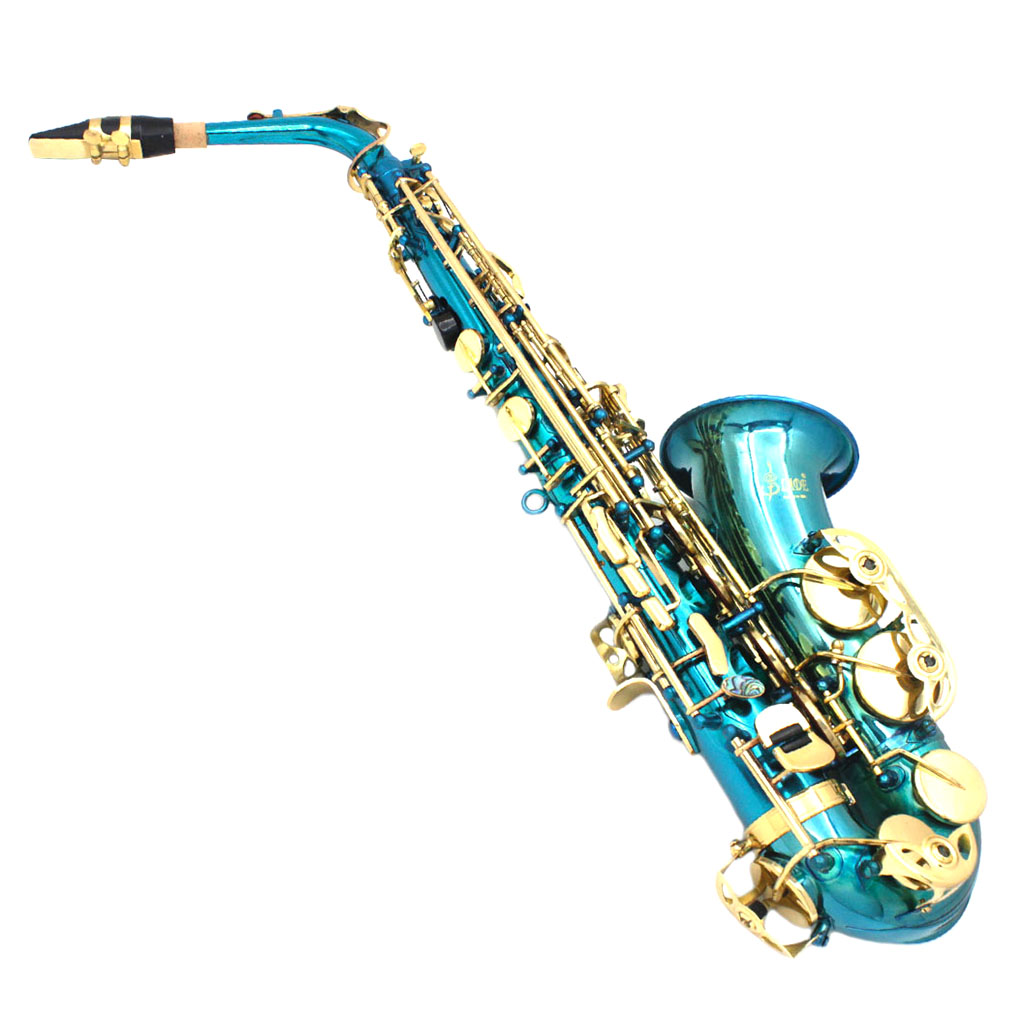 Exquisite Brass Eb Alto Saxophone Sax with Storage Case Mouthpiece Straps Gloves Cleaning Cloth
