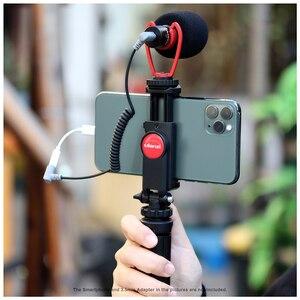 Image 2 - Ulanzi שיא מיקרופון חצובה Vlog ערכת מיני חצובה אנכי ירי טלפון הר ערכת 3.5MM שקע וידאו אודיו מיקרופון