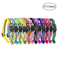 12pcsset-adjustable-dog-collars-pet-collars-with-bells-charm-necklace-collar-for-little-dogs-cat-collars-pet-supplies-hot-sale