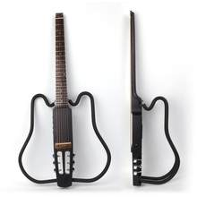 Acoustic headless foldable electric guitar portable travel silent built in effect set free shipping