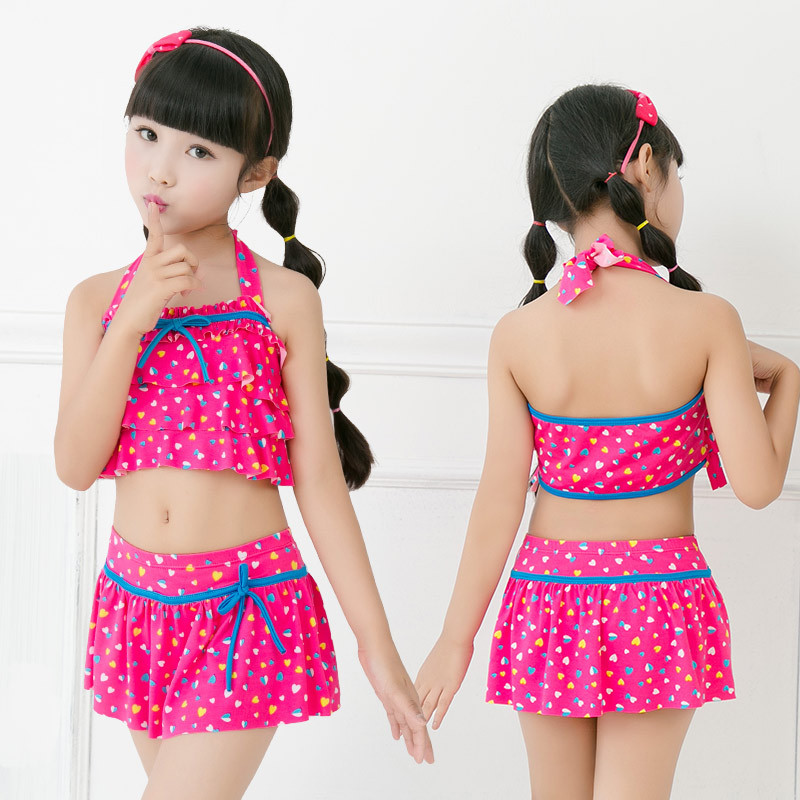 CHILDREN'S Swimsuit GIRL'S Skirt Children Big Kid's Comfortable Briefs Cute GIRL'S Swimsuit Nt108702