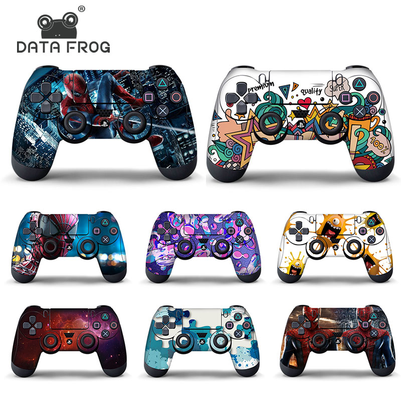 Data Frog Protective Cover Sticker For PS4 Controller Skin For Playstation 4 Pro Slim Decal Accessories 15 Styles image