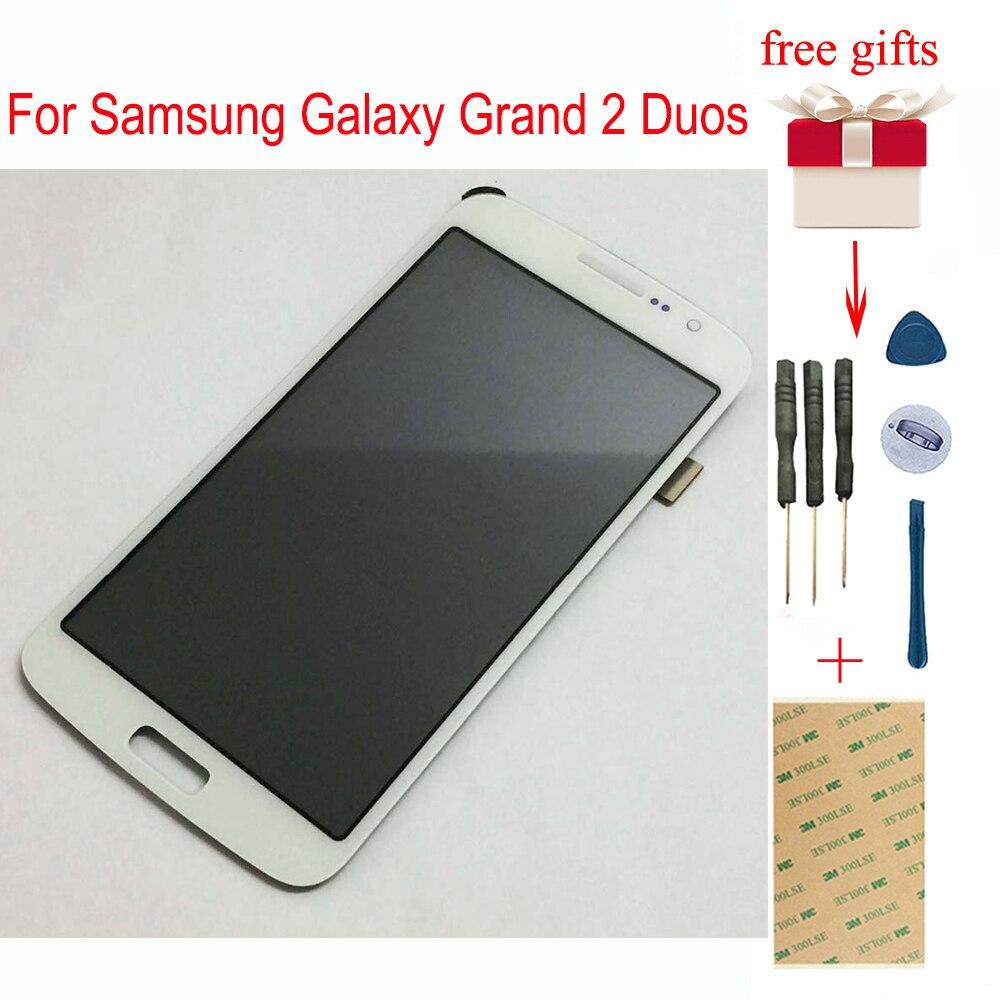 LCD Para Samsung Galaxy Grande Duos 2 G7102 G7105 G7106 G7108 LCD Digitador da Tela de Toque LCD Visor Do Painel de LCD Sensor de montagem
