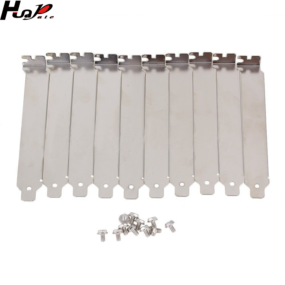 10pcs Silver Stainless Steel Dust Proof PCI Bracket Blank Slot Cover Plate 120mm