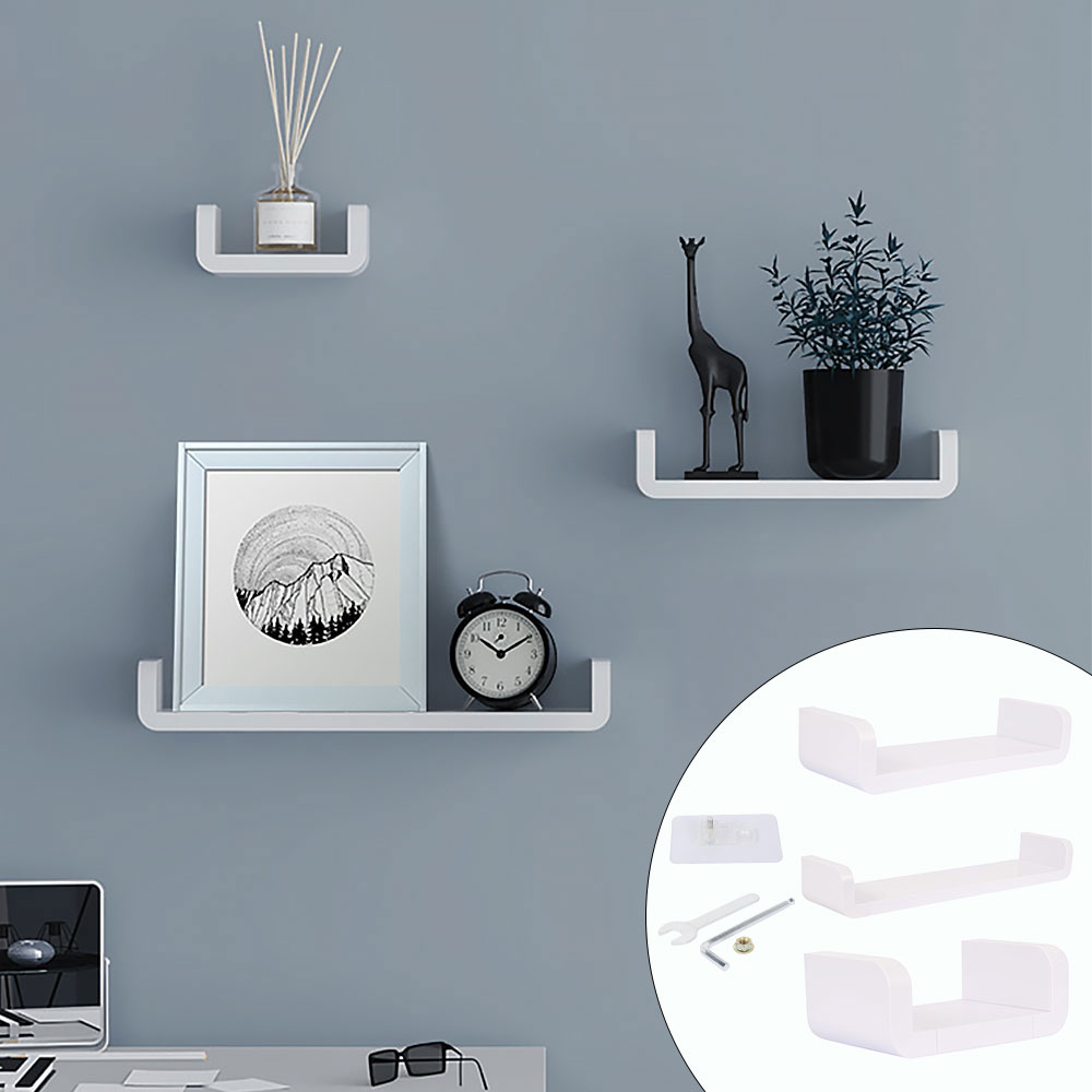 White Home Storage Holder Waterproof Cosmetic Shelves Wall Hanging Bathroom Shower Shelf Caddy Shower Rack Kitchen Spice Racks