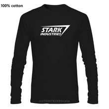 Stark Industries Herren T Shirt Tony Nerd Arc Film Geek Comic Schild Mode Marke Männer Tops Straße Tragen T-Shirt
