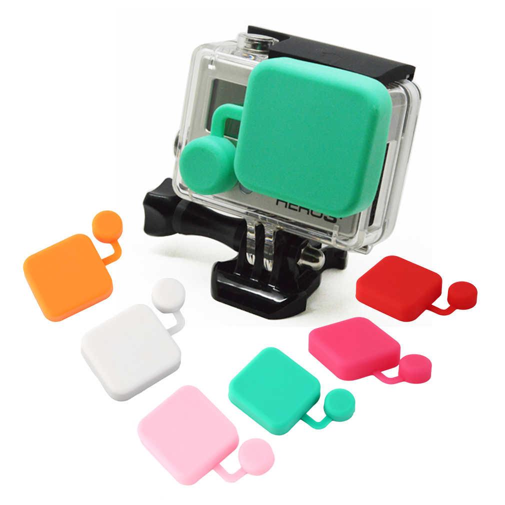 Hot Salenew Silicone Tahan Air Kamera Lensa Pelindung Case Penutup Pelindung Untuk GoPro Hero3 + Hero4 Di Saham