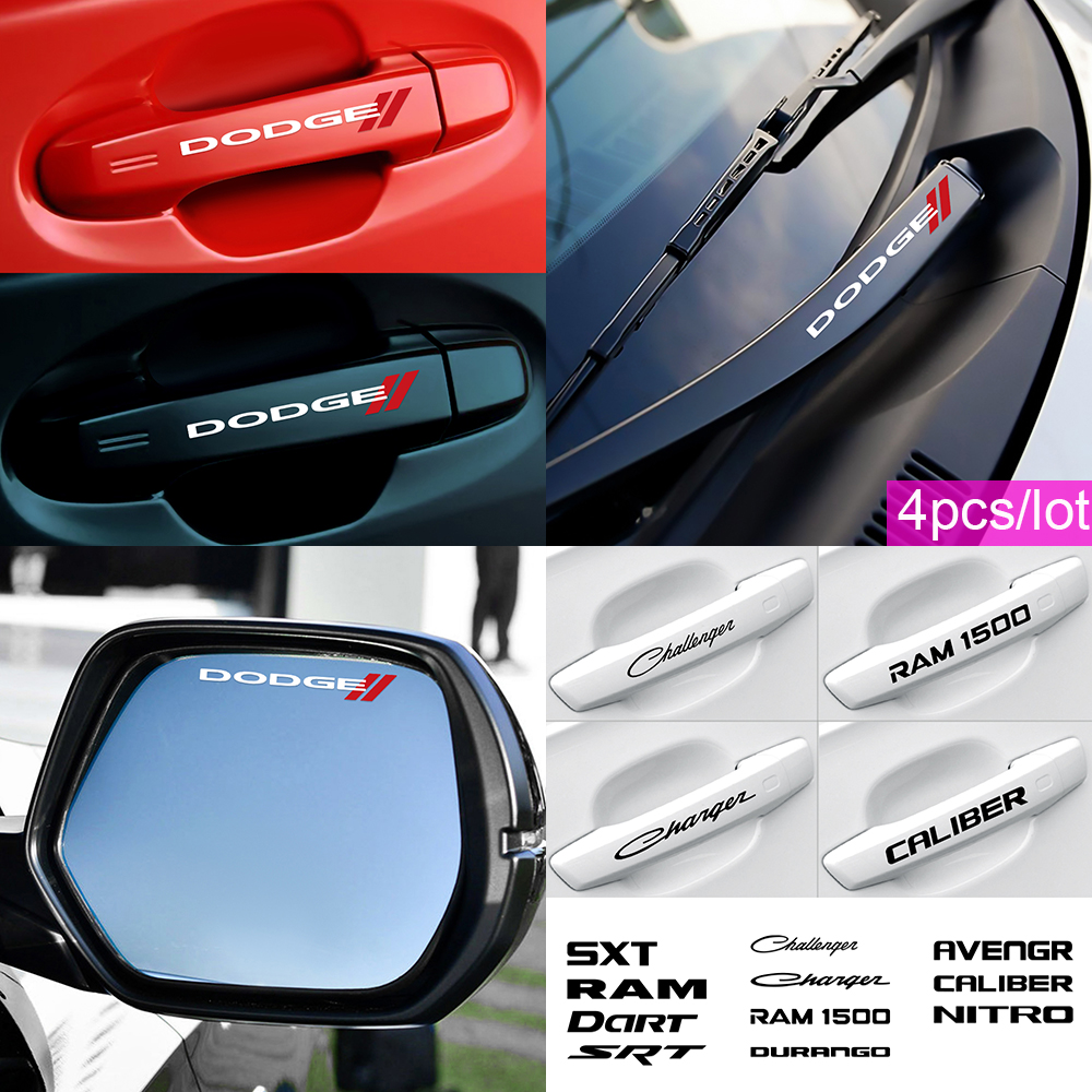 Car Styling Rearview Mirror Car Sticker PVC Decal For Dodge Challenger RAM 1500 Charger Avenger Caliber Nitro Accessories