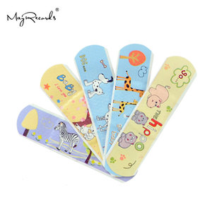Image 4 - Free Shipping 50PCs Cartoon PE Waterproof Animals Style Adhesive Bandages Band Aid First Aid For Kids Children