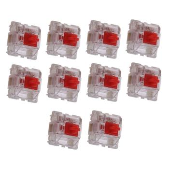 10 sztuk paczka Gateron SMD czerwone przełączniki klawiatura mechaniczna 3 piny Gateron przełączniki MX przezroczyste etui fit GK61 GK64 GH60 tanie i dobre opinie NoEnName_Null Klawisze CN (pochodzenie)