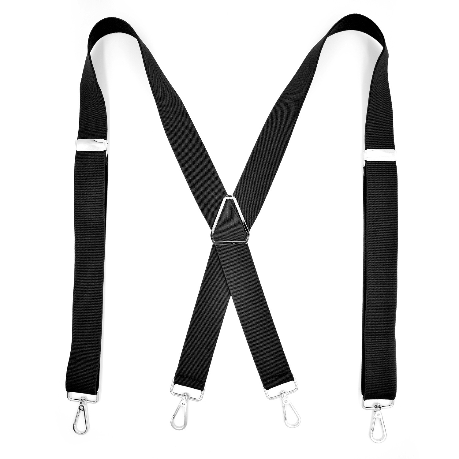 Cross Border Supply Of Goods Adult 4 Clip Black And White With Pattern Suspender Strap Hook Buckle Triangle Suspender Strap Clip