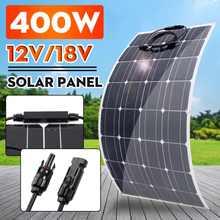 Panel słoneczny 800W 400W 18V elastyczny samochód kempingowy RV ładowarka ładowarka do baterii słonecznej zestaw paneli słonecznych akumulator System zasilania tanie tanio LEORY CN (pochodzenie) panel solarny 105cmX54cm Solar Panel Krzem monokryształowy