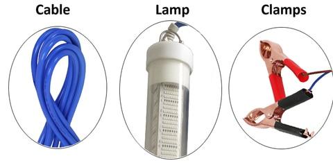 pesca isca inventor de peixes lampada atrai camarao lula krill 4 cores