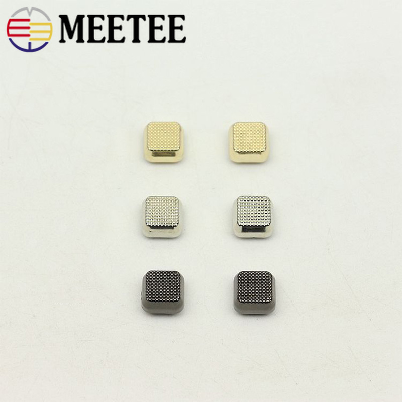 10/30pcs 10mm Luggage Metal Square Rivet Buckles Bags Base Screw Decorative Nail Button DIY Hardware Accessories BF487
