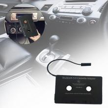 Универсальный автомобильный Bluetooth аудио Кассетный к Aux адаптер для смартфонов Кассетный адаптер для автомобиля Встроенный аккумулятор Прямая