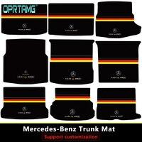 2019 Custom Germany Car trunk mat for Mercedes Benz all models C ML GLA GLE GL CLA R A B GLS GLC class car accessories styling
