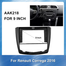 9 Inch 2 Din Mobil Radio Fasia untuk Renault Correga 2016 2DIN Audio Multimedia Video Player GPS Navigasi Antarmuka Bingkai panel(China)