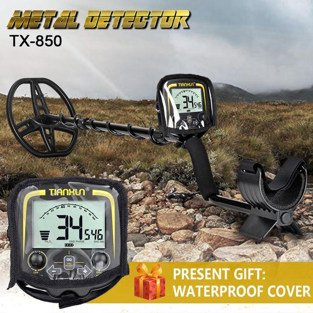 Metal Detector sotterraneo TX 850 Ad Alta Sensibilità Metallo Hunter Gold Digger Treasure Hunter Profondità 2.5m Finder Individuare Rivelatore