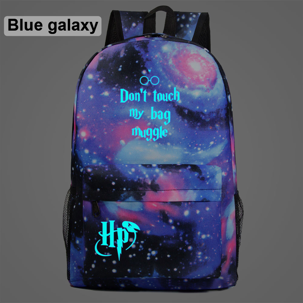New Luminous Gift Fashion Letter Children Boy Girl School bag Teenagers Student Schoolbags Women Packsack Men Backpack