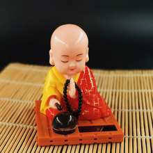 Model-Ornaments Solar Monk-Figure-Toy Shake-Head Car-Interior-Decoration Cute Home Desk-Decor