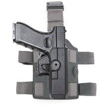 Tactical nóżka stojak pistolet kabura dla Glock 17 18 19 22 26 31Airsoft udo pistolet Case Adapter wiosło akcesoria myśliwskie