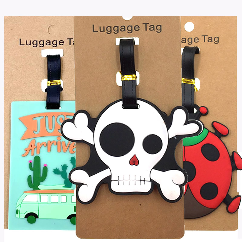 Cartoon Letter Just Arrived Luggage Tags Travel Accessories Portable Suitcase Silica Gel Address Holder Baggage Boarding Label