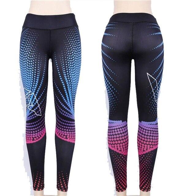 Sport Leggings Women Yoga Pants Workout Fitness Clothing Jogging Running Pants Gym Tights Stretch Print Sportswear Yoga Leggins 5