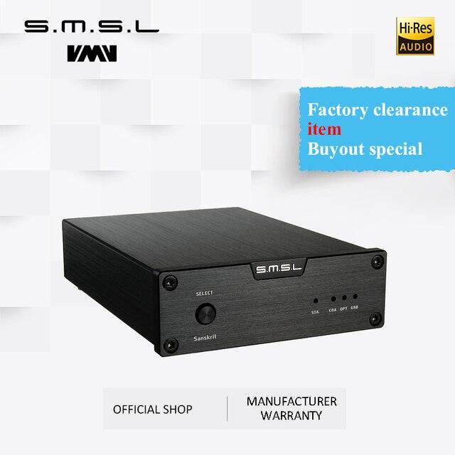جهاز فك الترميز الصوتي التناظري SMSL السنسكريتي 6th إصدار الذكرى السنوية DAC 32bit/192kHz مع مدخل محوري بصري USB باللون الأسود والفضي