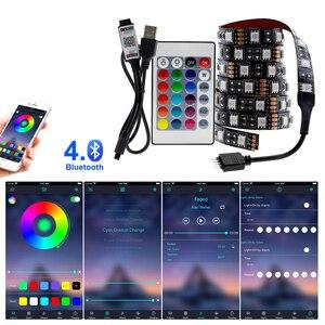 Image 3 - USB LED רצועת 5050 RGB לשינוי LED טלוויזיה רקע תאורה 50CM 1M 2M 3M 4M 5M DIY גמיש LED אור.