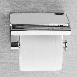 Image 2 - Rovogo sus 304 ステンレス鋼トイレットペーパーホルダーと電話棚、浴室ティッシュホルダートイレットペーパーロールホルダー